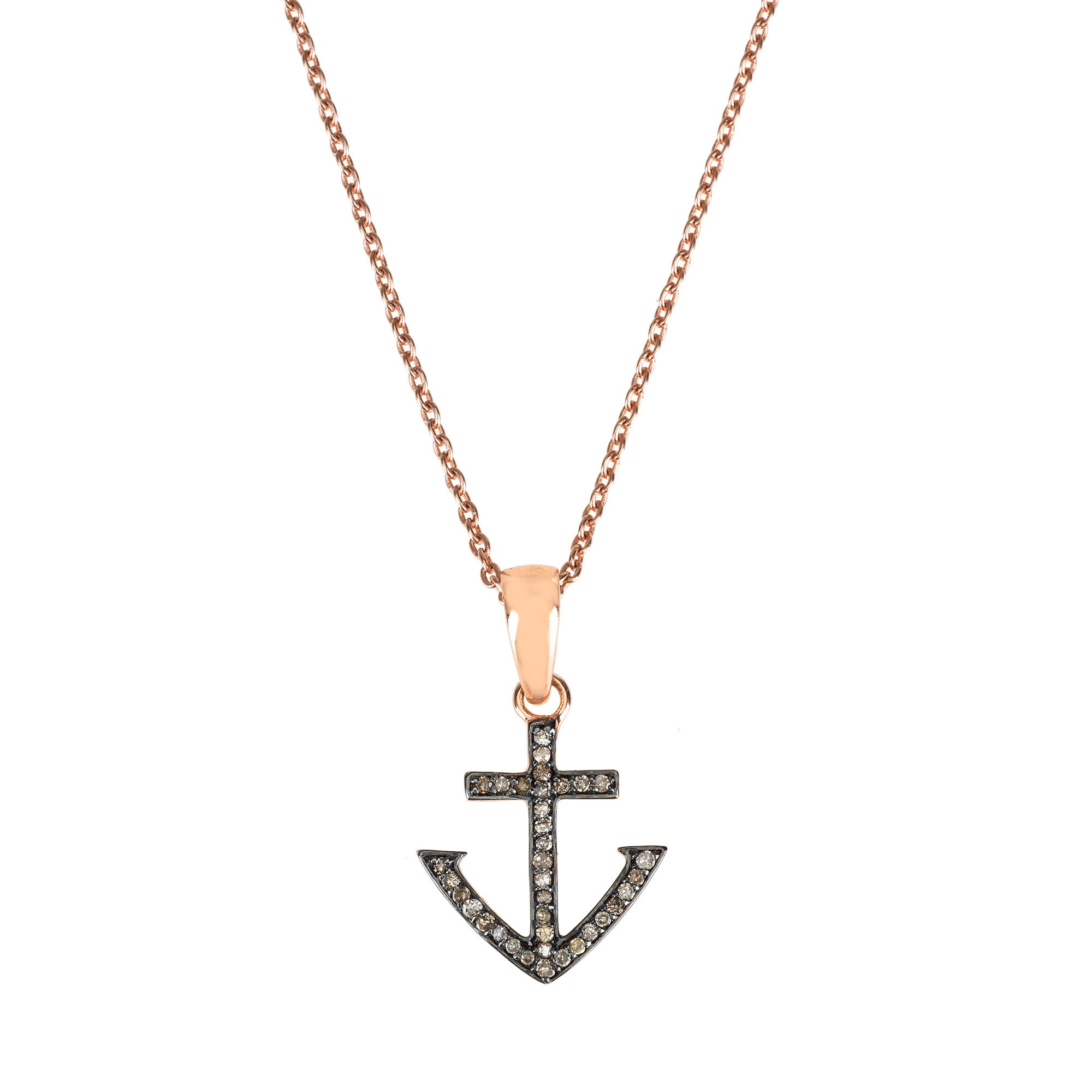 Diamond Anchor Necklace