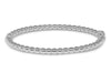 Beckids Sterling Silver Twisted Bangle For Girls Ages 3-9