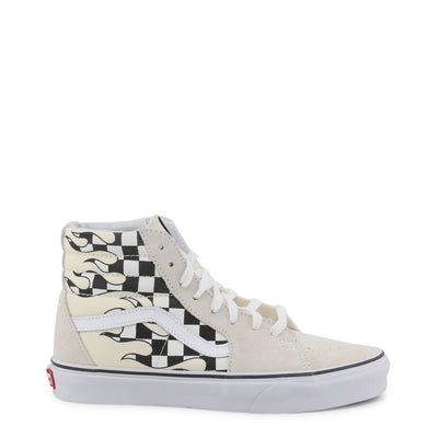 Vans Sneakers Unisex Black Checkerboard/White Checkerboard/Red/Brown - Sk8-Hi_Vn0A38