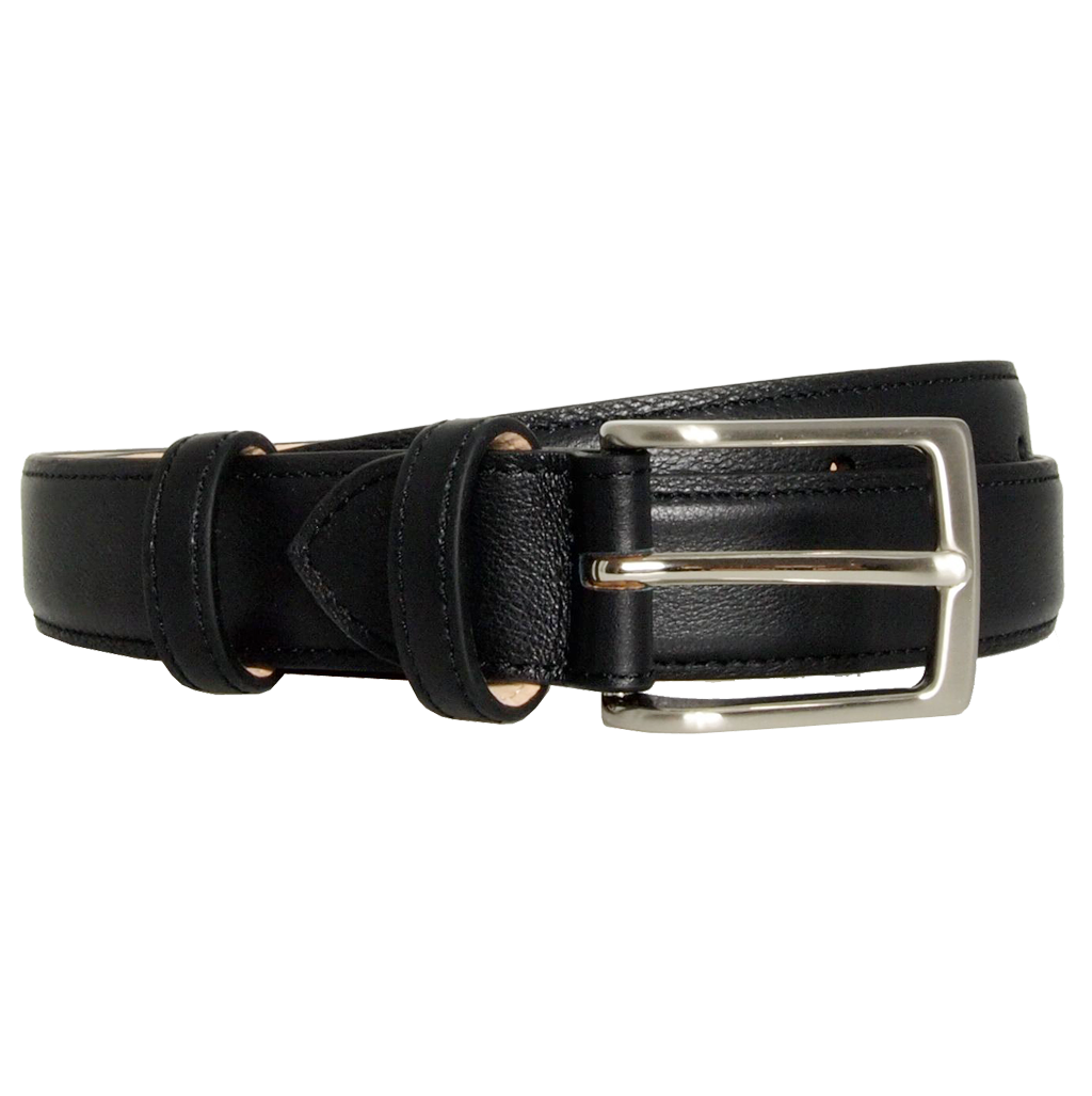 30 Mm Sartorial Fine Grain Leather Belt Black
