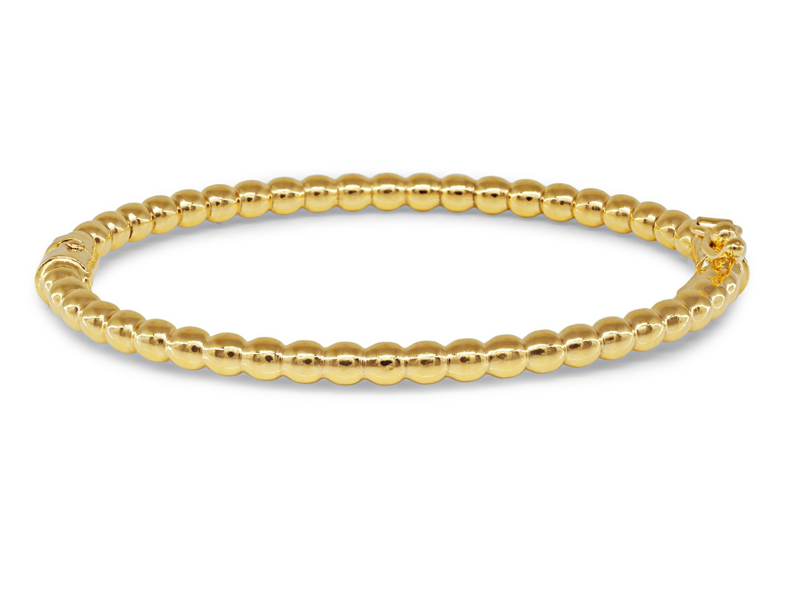Beckids Gold Plated Sterling Silver Twisted Bangle For Girls Ages 3-9