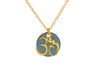 Golden Ohm Disc Necklace