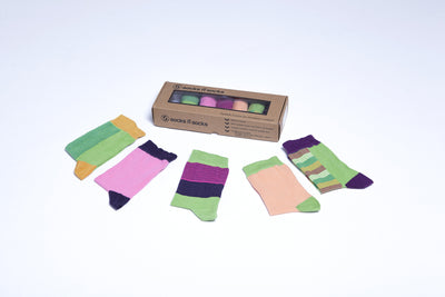 Solid Mix Set Socks