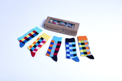 Traditional Blocks Socks