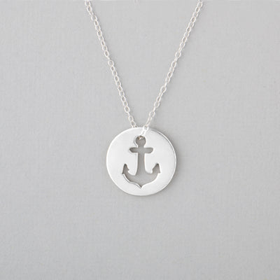 Anchor Necklace - Sterling Silver