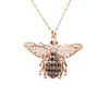 Honey Bee Pendant Necklace Rosegold