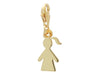 Golden Girl Cut Out Pendant