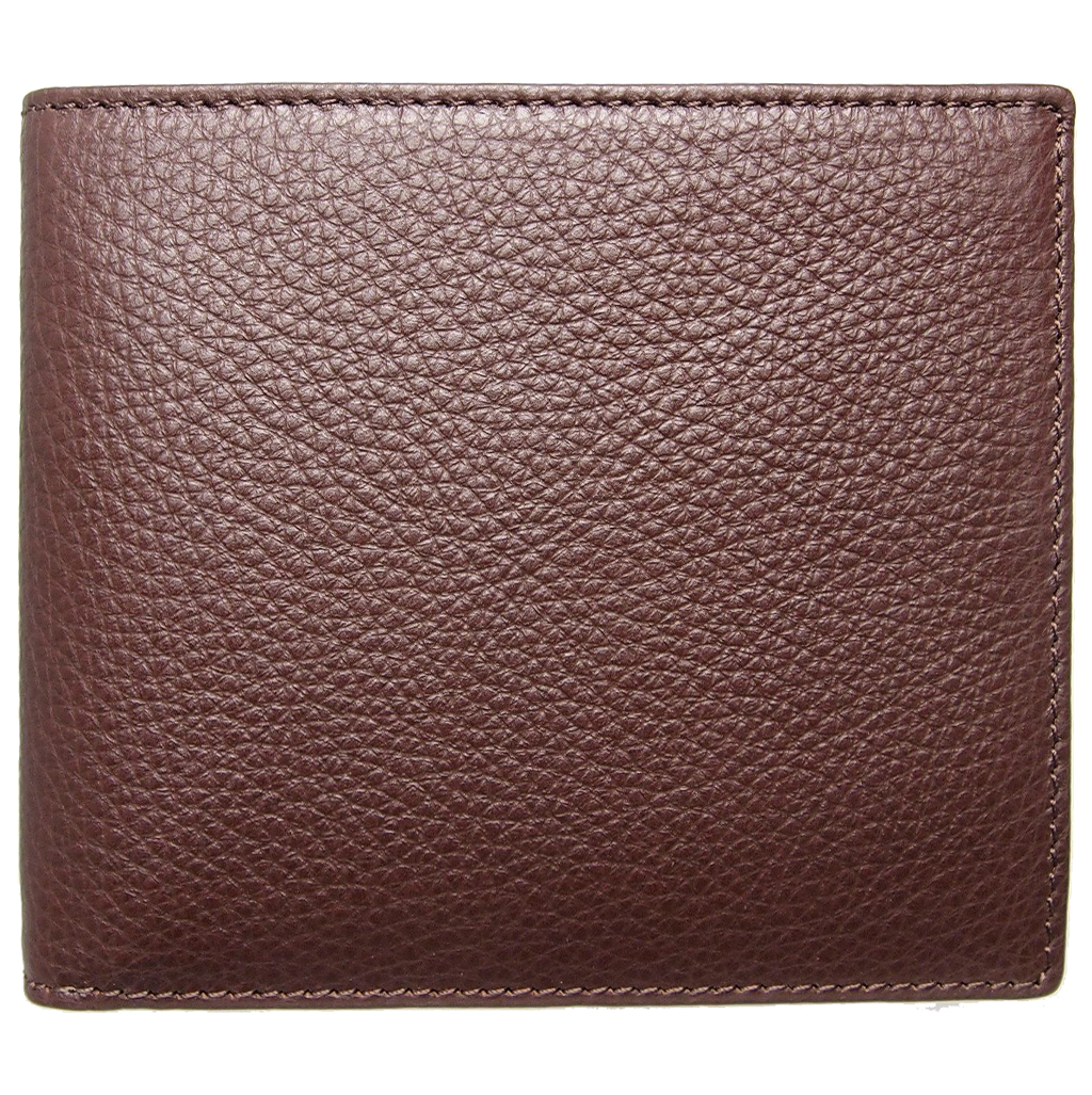 8 Cc Grained Calf Leather Billfold Brown