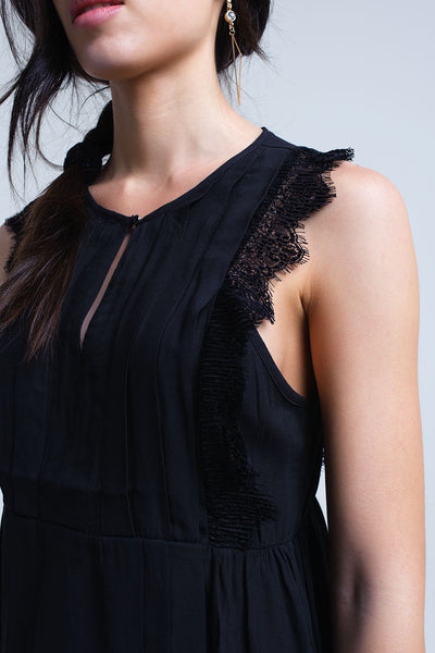 Black Top With Lace Detail