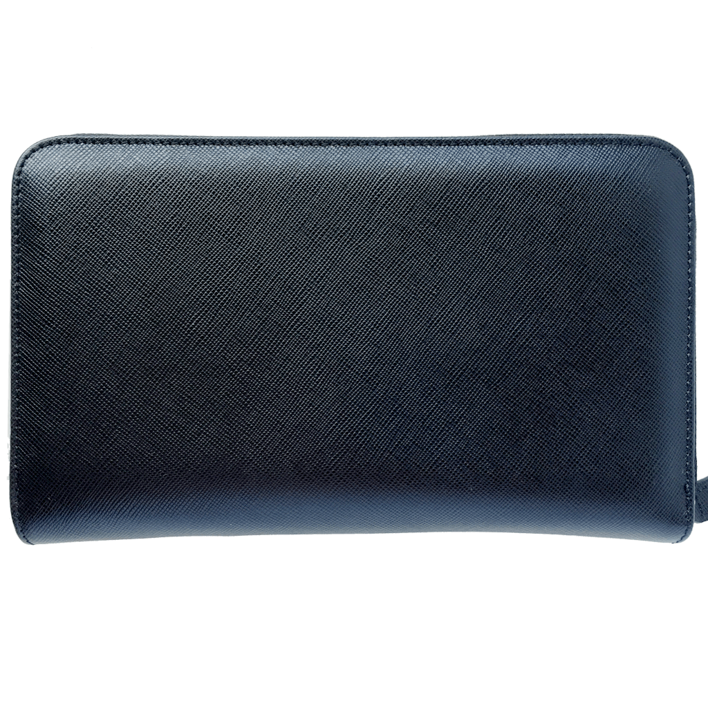 16 Cc Saffiano Zip Around Travel Wallet Black