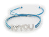 Sparkling I Love You Cord Bracelet