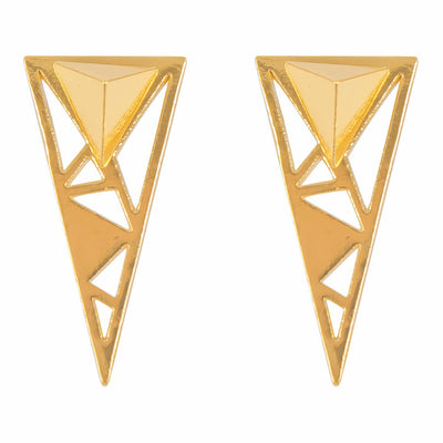 Geometric Triangle Earring With Jacket
