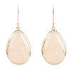 Rosegold Single Drop Earring Rose Quartz