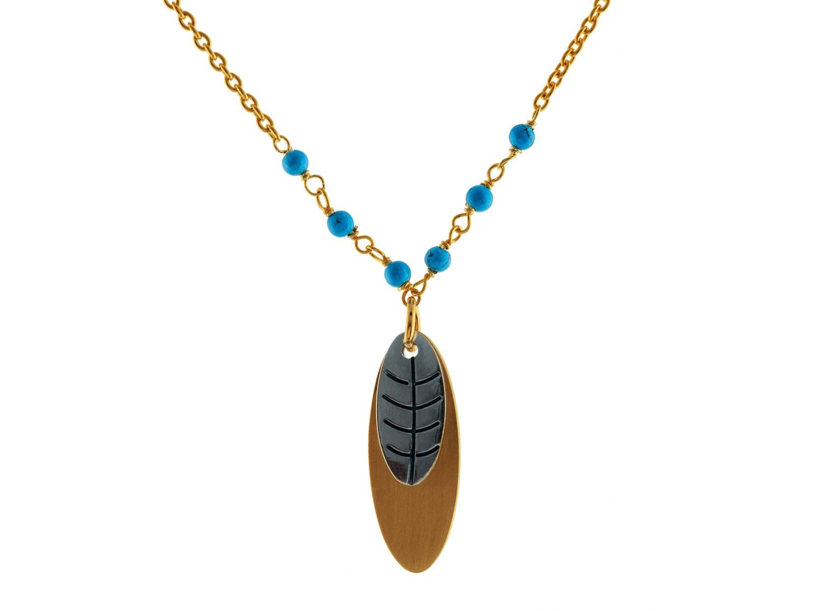 Arizona Dreams Turquoise Feather Necklace