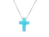 Mini Opal Cross Necklace