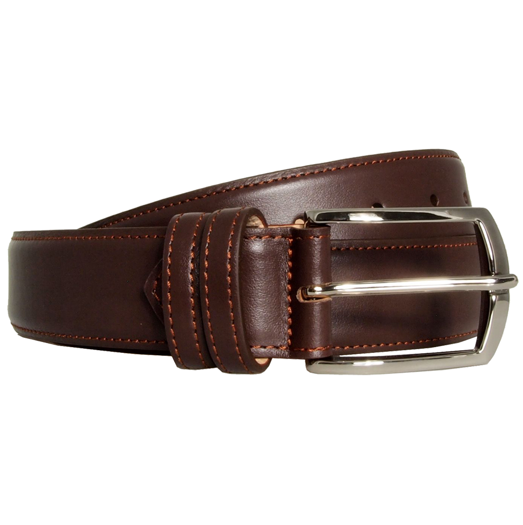 35 Mm Sartorial Buffed Leather Belt Brown