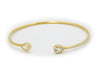 Golden Pear Ends Bangle