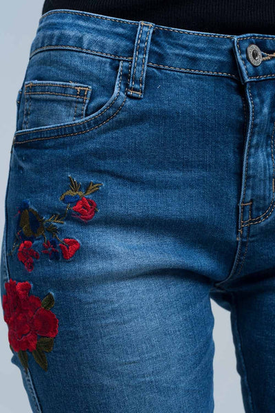 Skinny Jean Embroidered Detail