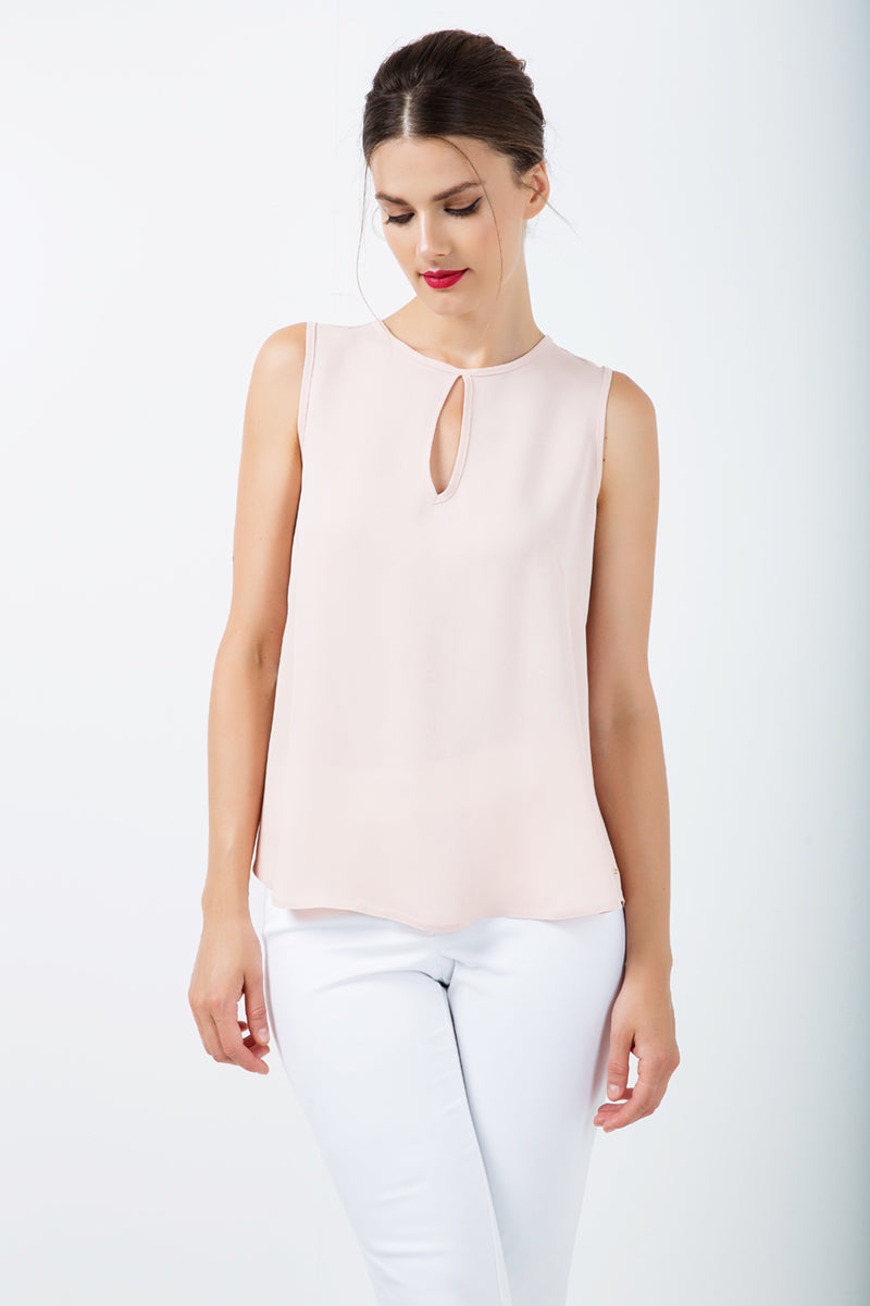 Keyhole Detail Sleeveless Top