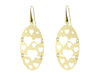 Large Golden Oval Hearts Cutout Hook Earrings In 18K Plated Sterling Silver