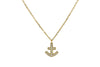 Sparkling Golden Anchor Necklace