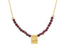 Garnet Mini Evil Eye Necklace