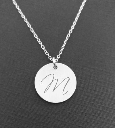 Personalized Initial Necklace - Sterling Silver