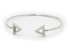 Triangle Cz Cuff Bangle