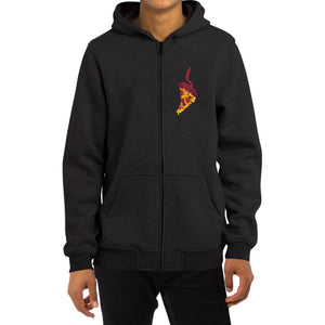 BITE me PIZZA ZIPUP HOODED [BLACK]