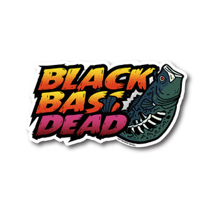 BLACK BASS DEAD STICKER