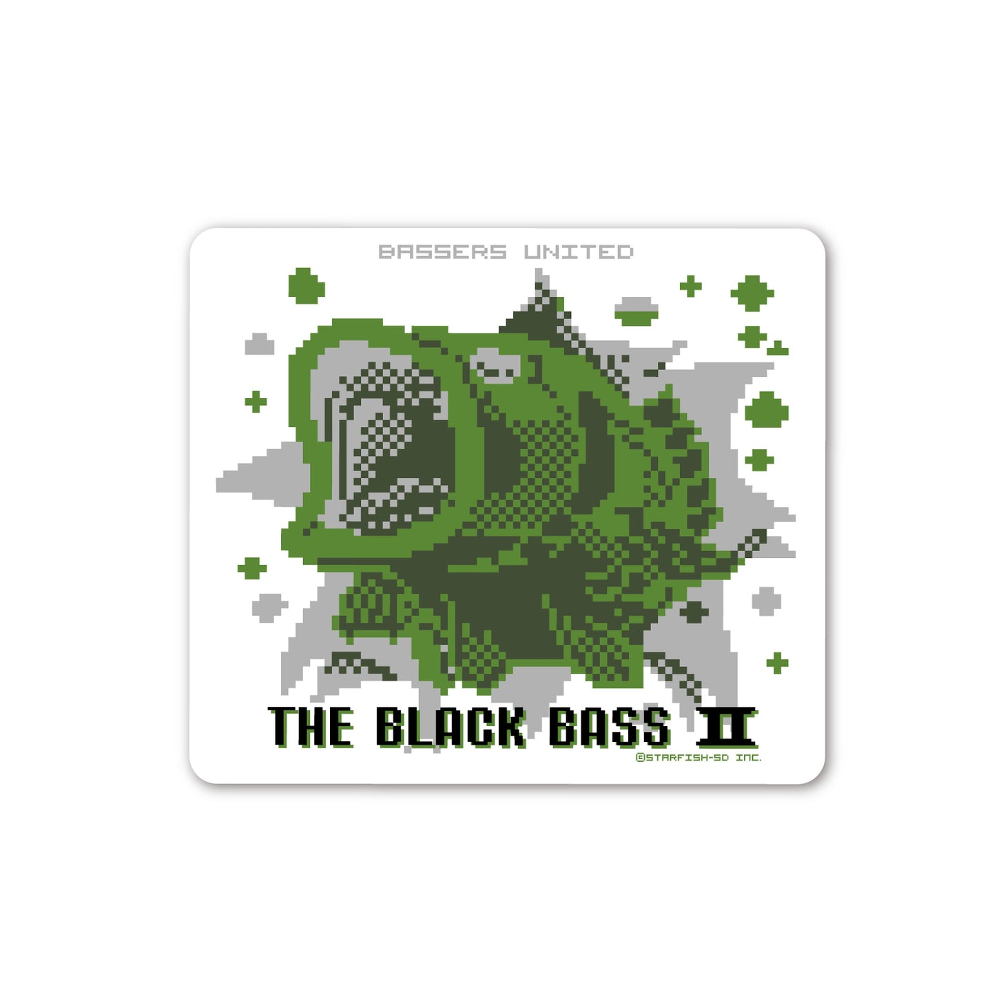 8BIT BASS STICKER