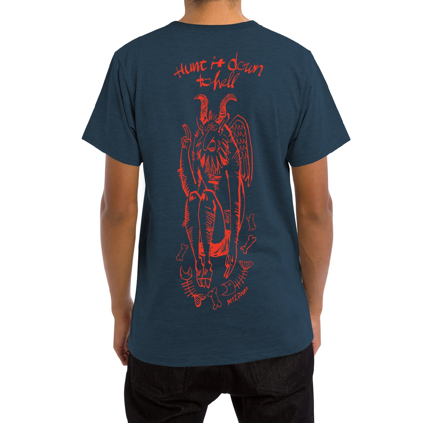 DEVIL TEE[Straight Blue]
