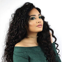 Jessica Hair Loose Curly Full Lace  Wigs For Black Women Brazilian Remy Hair With Baby Hair(J1071)