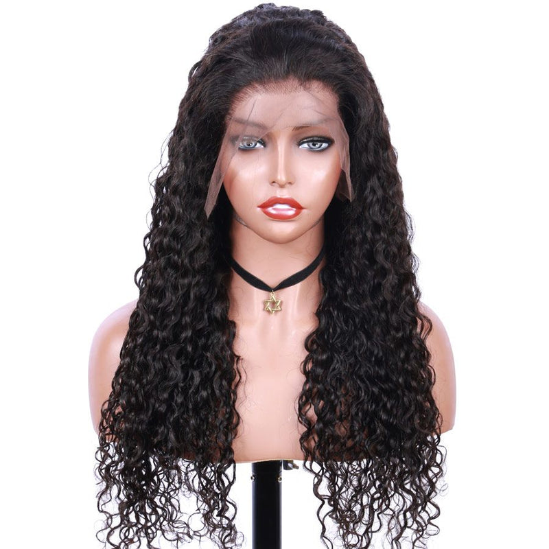 Jessica hair Human Hair Super Curly Remy Hair 360 Lace Frontal Wigs