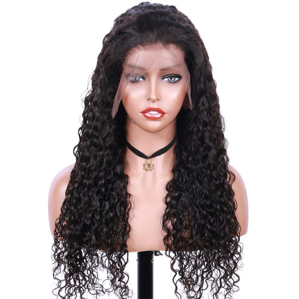 Jessica hair Human Hair Super Curly Remy Hair 13x6 Lace Front Wigs
