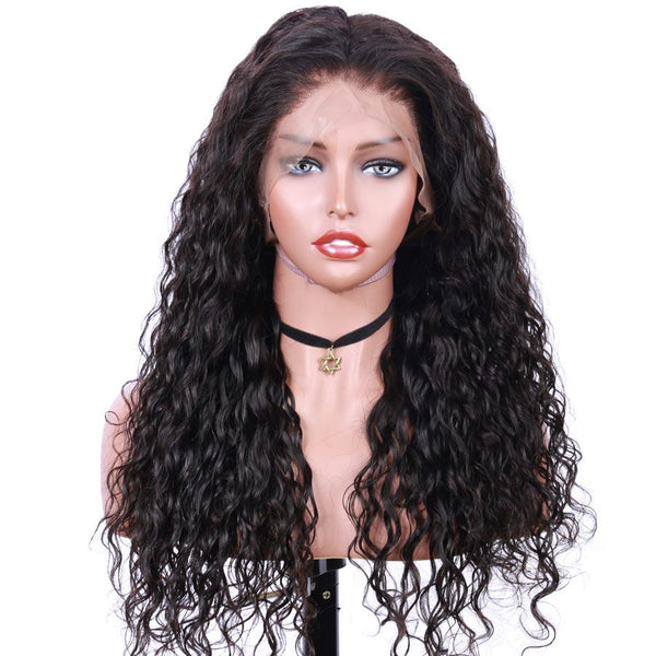 Jessica Hair 360 Lace Frontal Human Hair Wigs Pre Plucked water wave Remy Hair Wigs For Black Women (J10232)