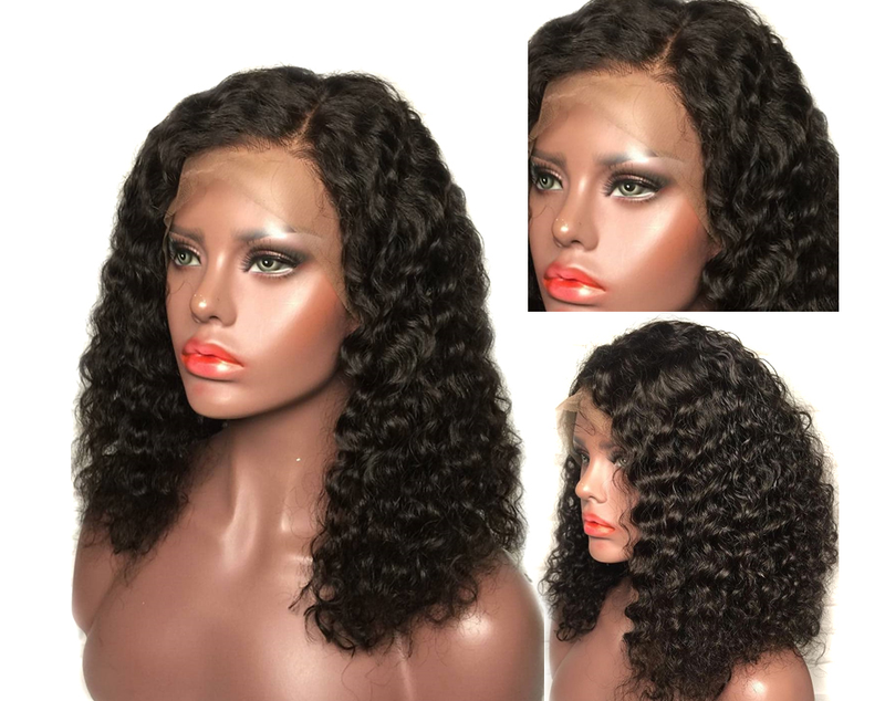 Jessica Hair Lace Front Wigs Loose Curly Brazilian Remy Human Hair Wigs For Black Women Short Curly with Baby Hair