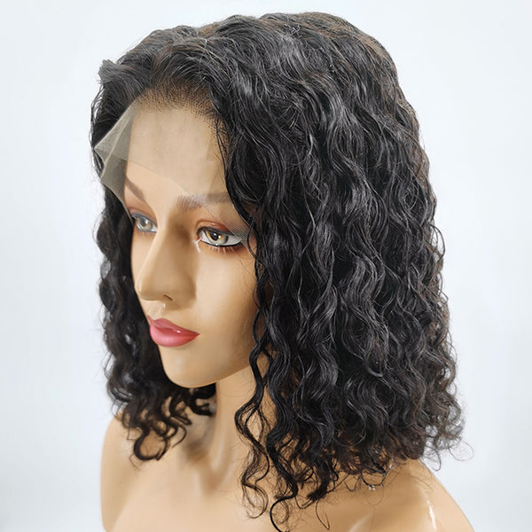 Jessica Hair 13x6 Lace Front Wigs Brazilian Real Human Hair Wigs For Black Women Water Wave  Wigs with Baby Hair