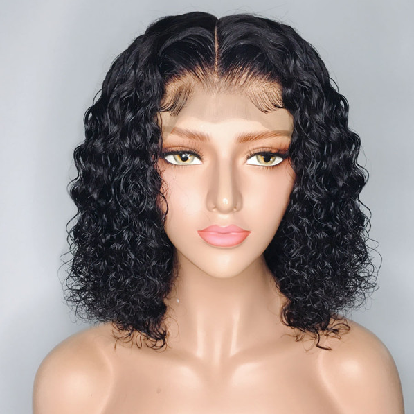 Pre-order Products --3 To 5 Days Shipping Jessica Hair 13x6 Lace Front Human Hair Wigs Short Bob Wigs Water Wave Brazilian Hair  Wigs For Black Women