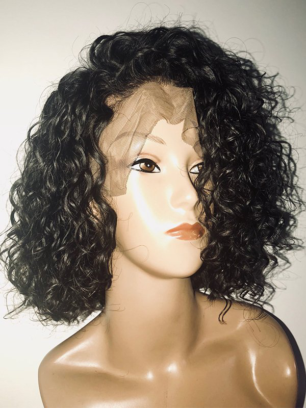 Jessica hair Human Hair Water Wave 13x6 Lace Front Bob Wigs  For Black Woman