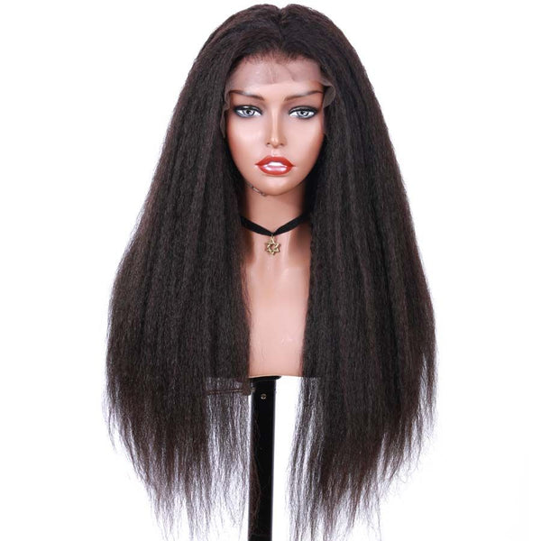 Jessica Hair Kinky Straight Remy Hair Human Hair Wigs For Black Women(J10152)