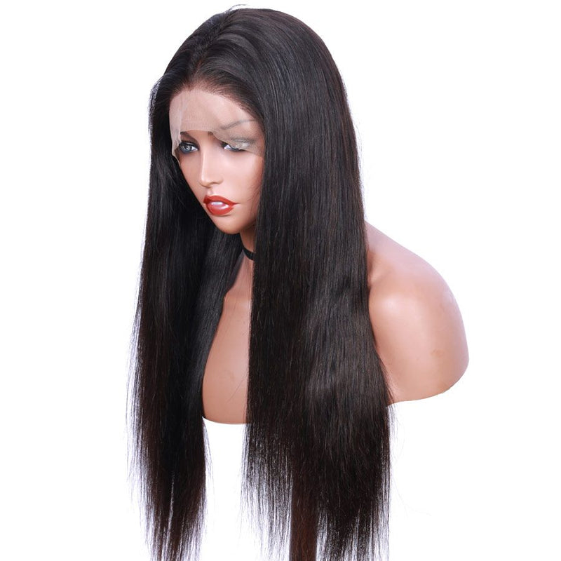 Jessica Hair 360 Lace Frontal Wigs Straight Wigs For Black Women Pre Plucked Brazilian Human Hair Lace Wig(J10202)