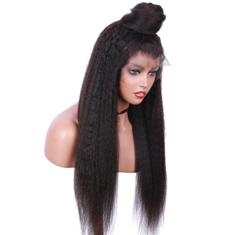 Jessica Hair 360 Lace Frontal Human Hair Wigs Kinky Straight Remy Hair Wigs For Black Women(J10151)