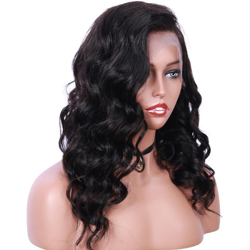Jessica Hair Full Lace Wigs Human Hair Wigs Body Wave Brazilian Remy Hair Natural Color Wigs For Black Women(J004)