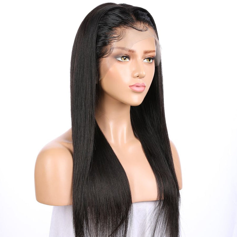 Jessica Hair 360 Lace Frontal Human Hair Wigs Pre Plucked Silky Straight Remy Hair (J10162)