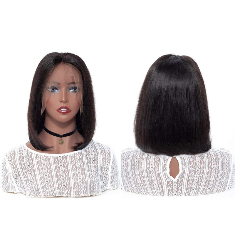 Jessica Hair Lace Front Wigs Short Straight Bob Wigs Brazilian Hair Pre Plucked with Baby Hair