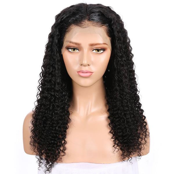 Jessica Hair 13x6 Lace Front Human Hair Wigs Natural Color Kinky Curly  Remy Hair  Wigs For Black Women (J10183)