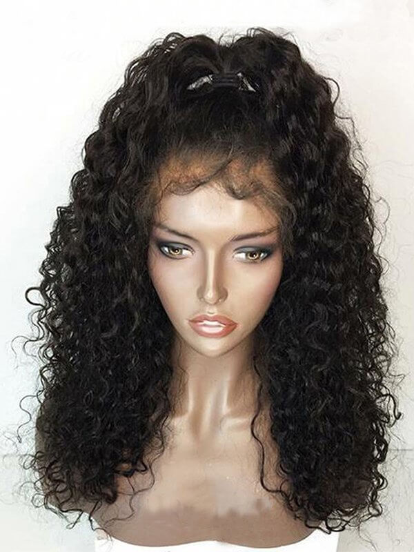 Jessica Hair 360 Lace Frontal Wigs Super Curly Brazilian Remy Hair With Baby Hair Pre Plucked Natural Hairline(J1042)