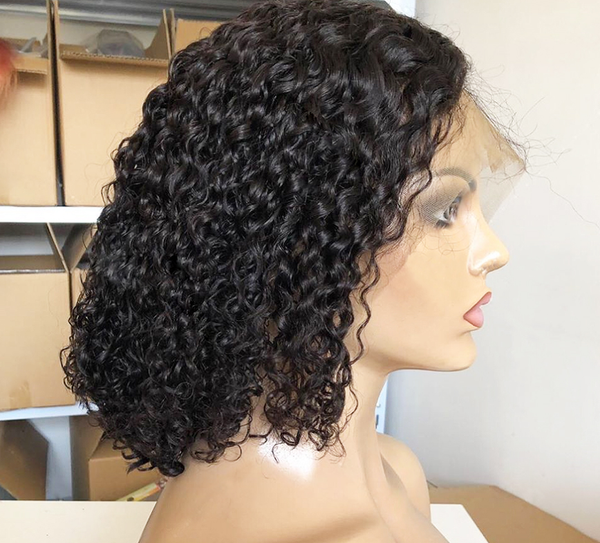 Jessica Hair Lace Front Wigs Short Natural Wave Brazilian Remy Human Hair Wigs For Black Women