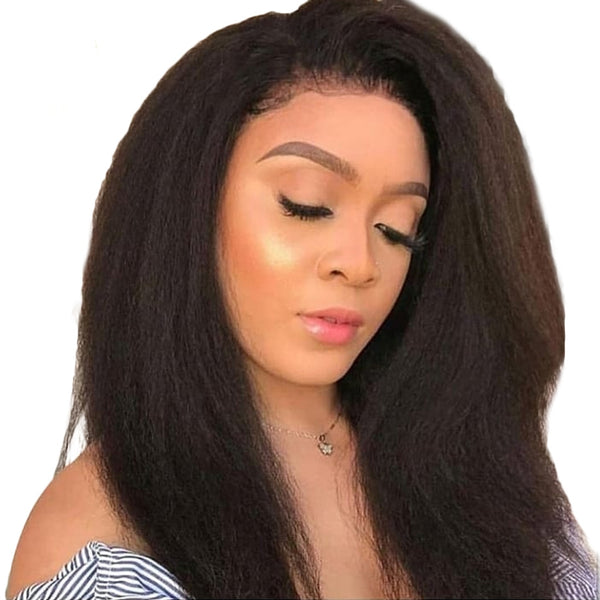 Jessica hair 13x6 Lace Front Human Hiar wigs Kinky Straight Remy Hair